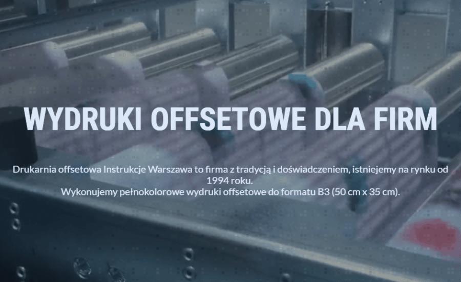 Realizacja strony internetowej drukarni offsetowej