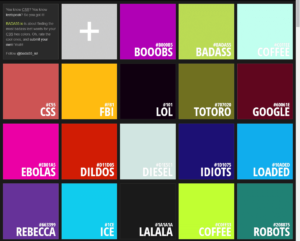 The interesting name of colors